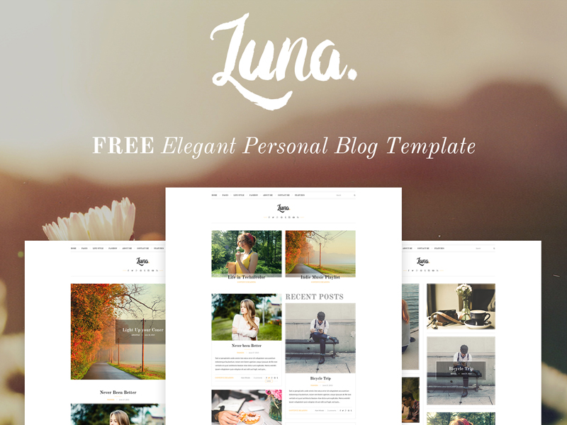 luna-free-ersonal-blog-template