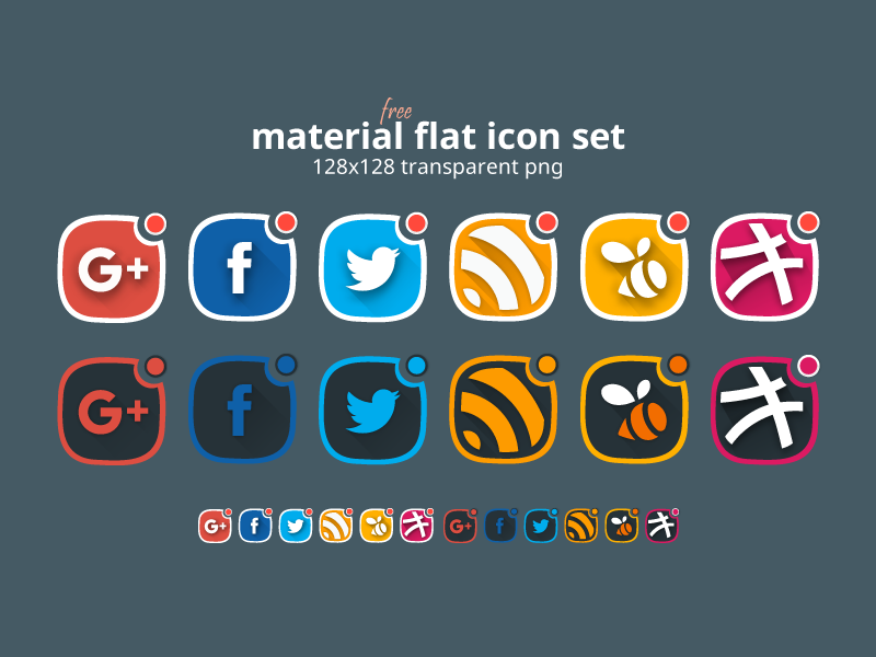 material-flat-social-icon-set-free
