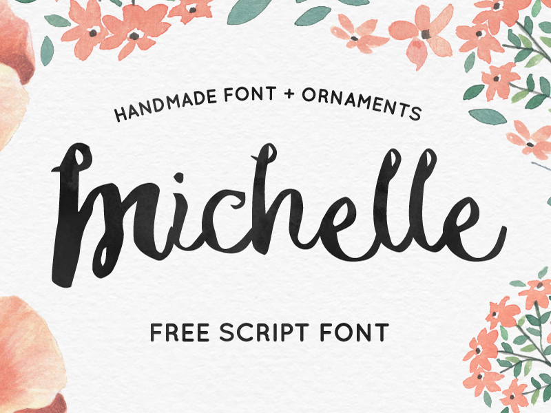 michelle-free-hand-made-script-font
