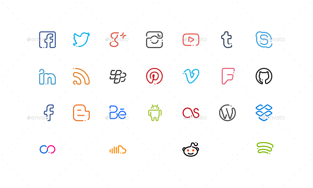 significon-social-25-social-media-icons
