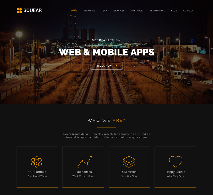 squear-responsive-html5-template