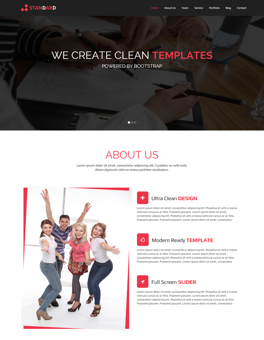 standard-free-html-template
