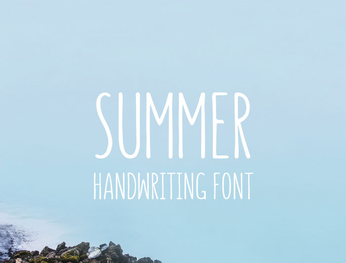 summer-handwriting-font