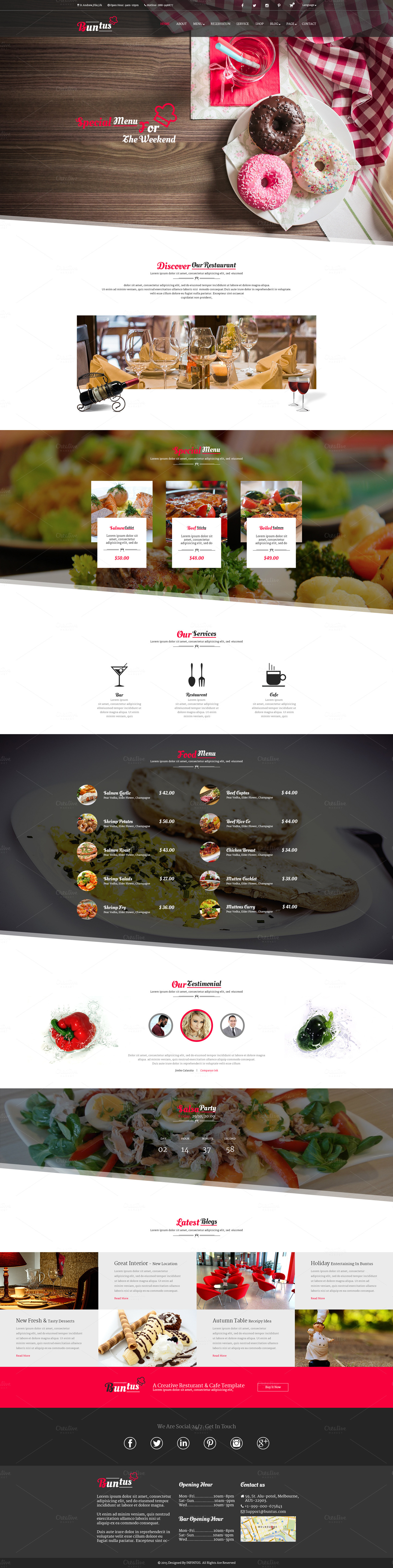 Buntus-Food-Restaurant-PSD-Template