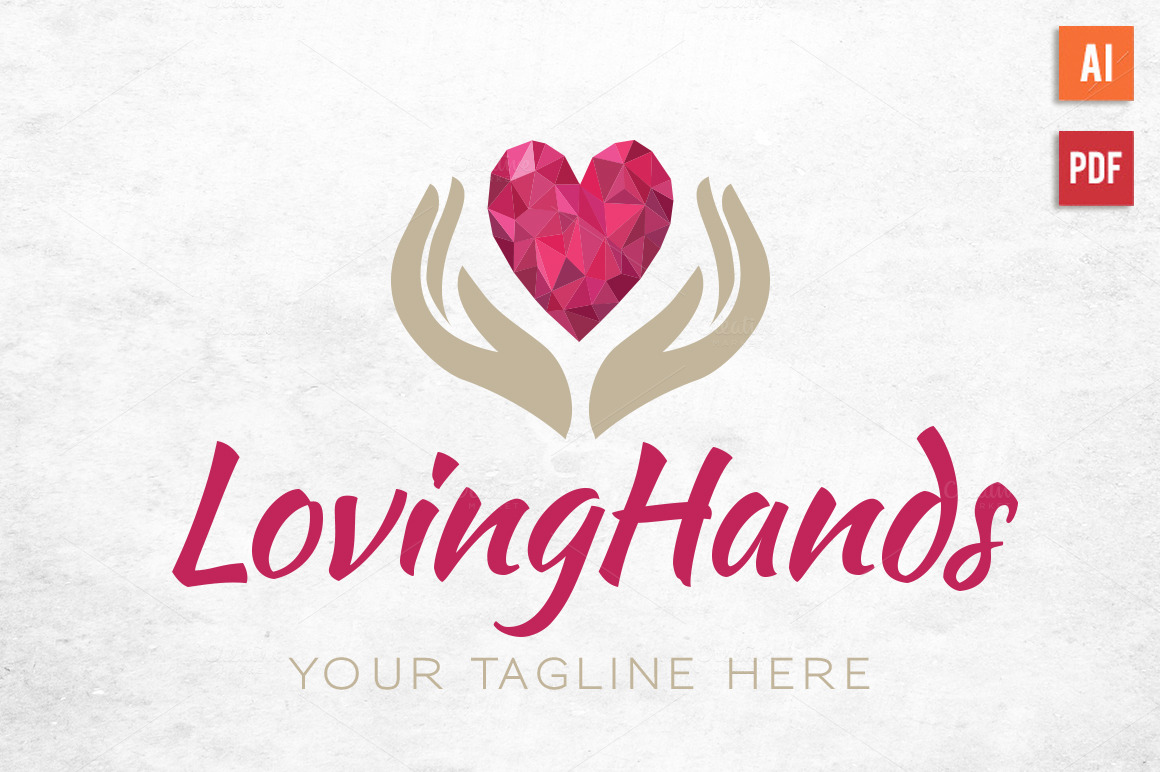 Diamond-Heart-Hands-Logo
