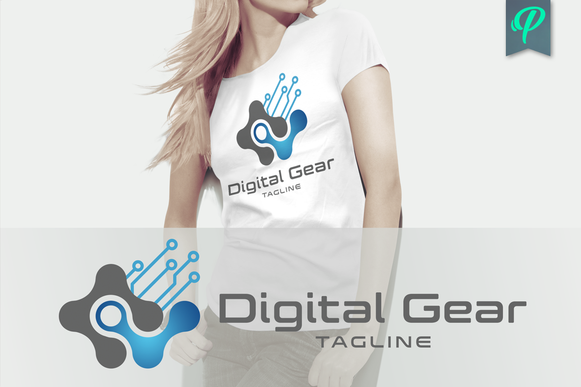 Digital-Gear-Modern-Logo-Template