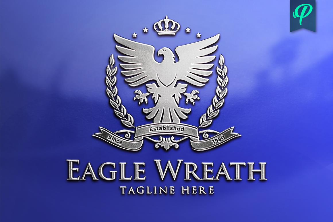 Eagle-Wreath-Logo-Template