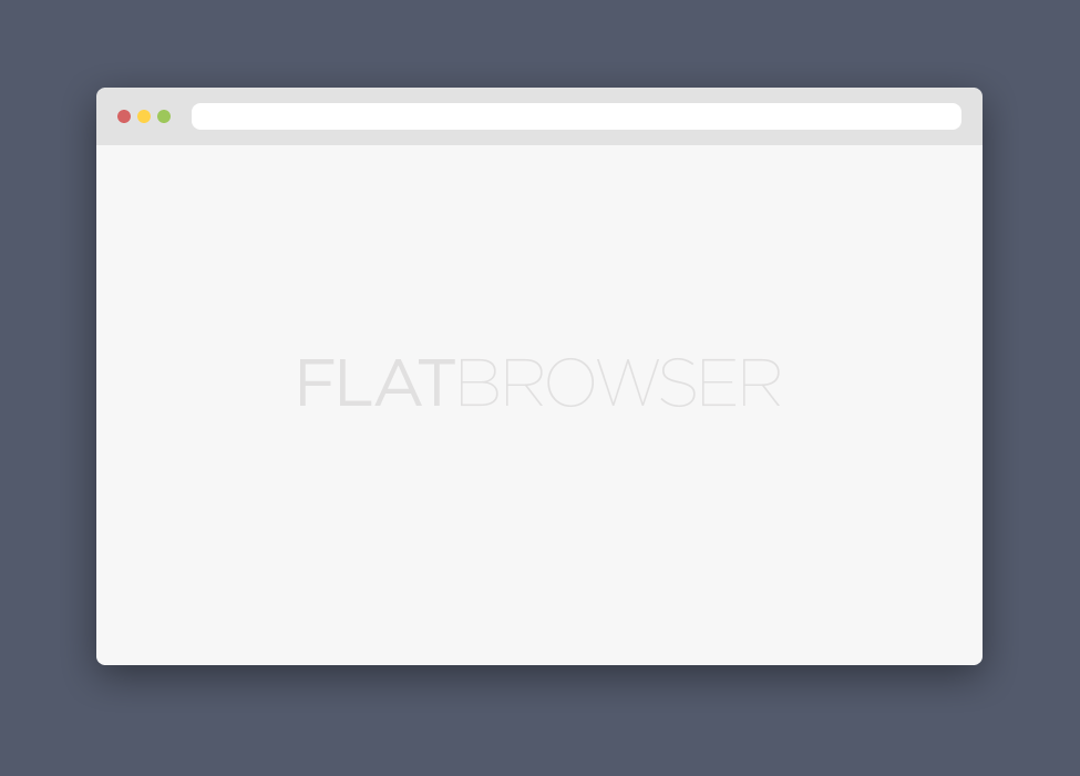 Flat-Browser-PSD