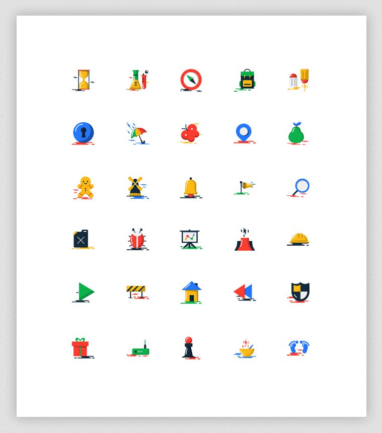 Free-Blobs-Flat-Icons