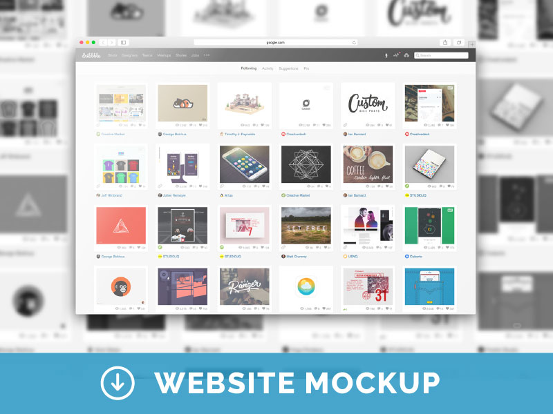 Free-Web-Browser-PSD-Mockup