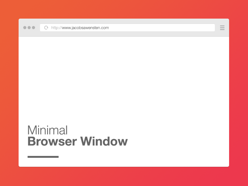 Free-minimal-browser-window