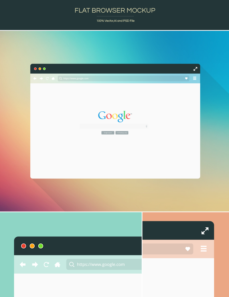 Freebie-Flat-Browser-Mockup
