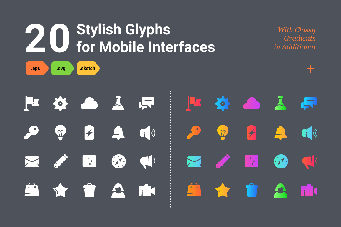 Stylish-Glyphs-for-Mobile-Interfaces