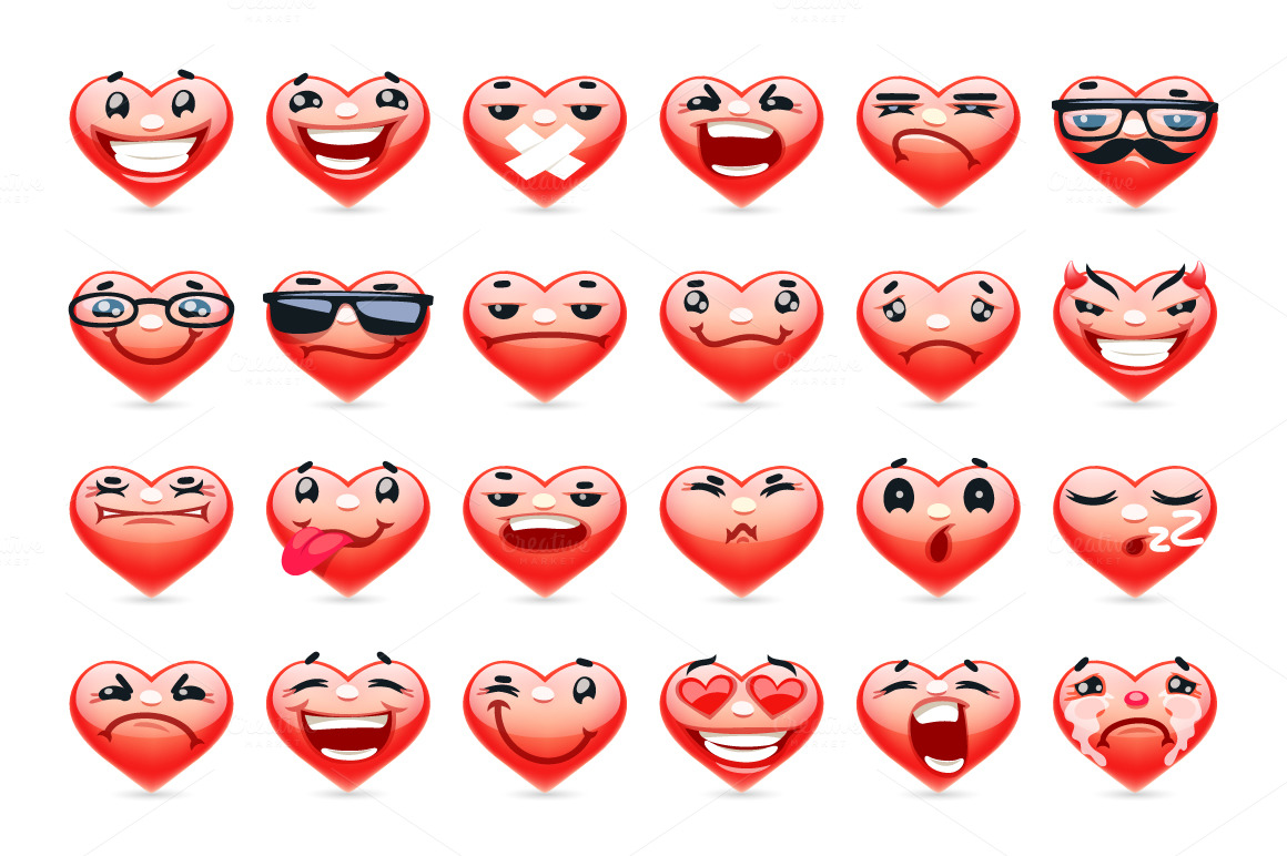 Valentine-Heart-Emoticons-Collection
