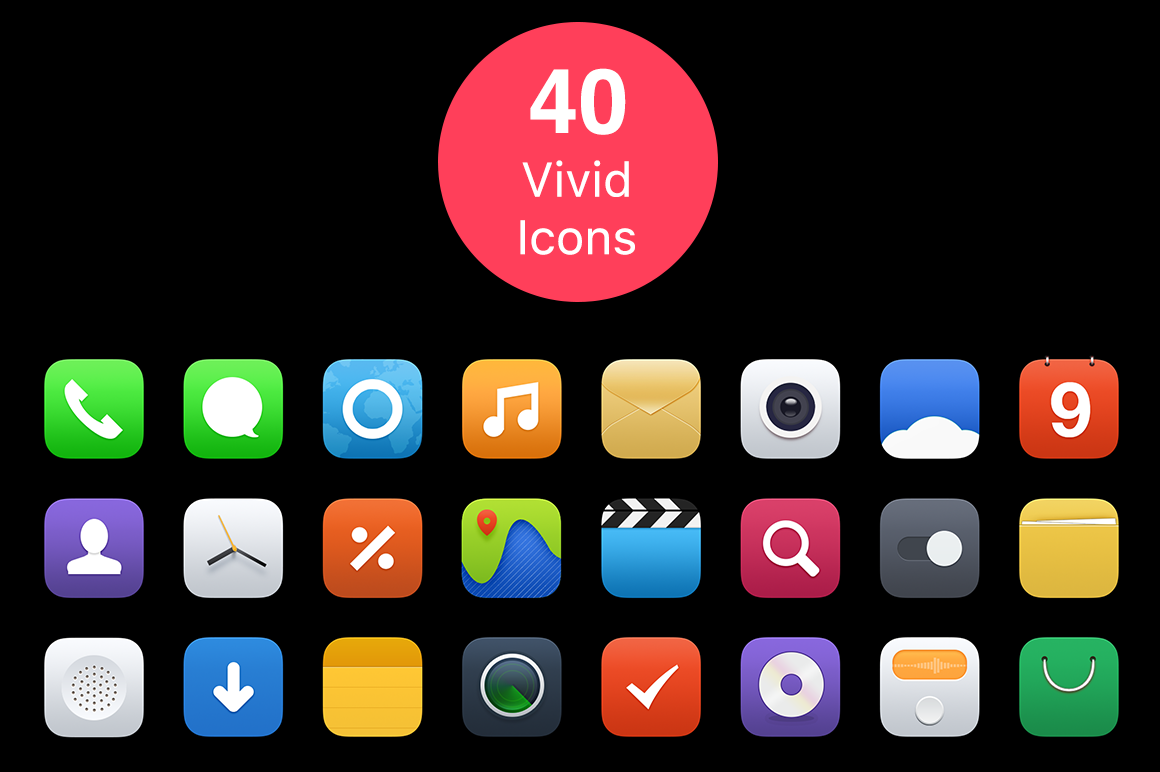 Vivid-Mobile-System-Icons