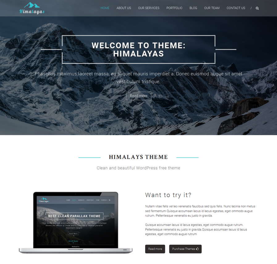 himalayas-free-one-page-wordpress-theme