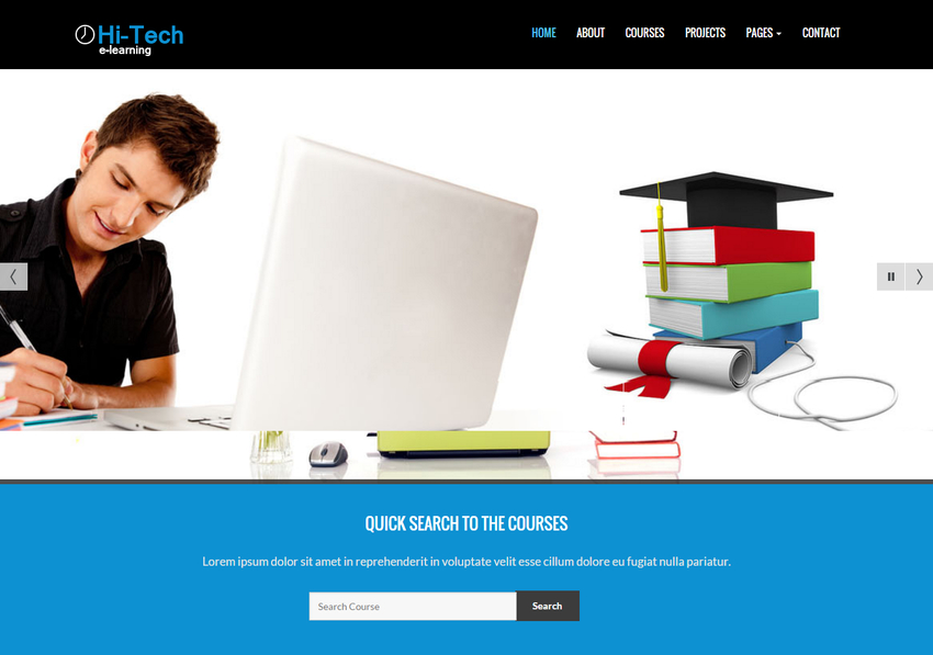 hitech-e-learning-bootstrap-website-template