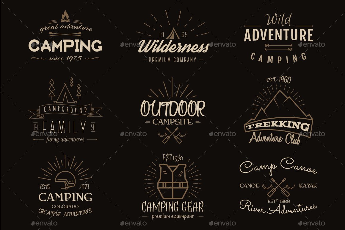 outdoor-vintage-badges-logos-set