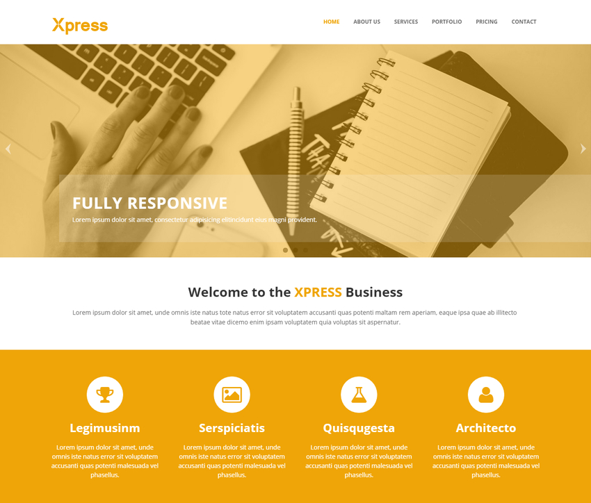 10 latest free html5 website templates october 2015 designazure xpress business free html5 bootstrap website template accmission