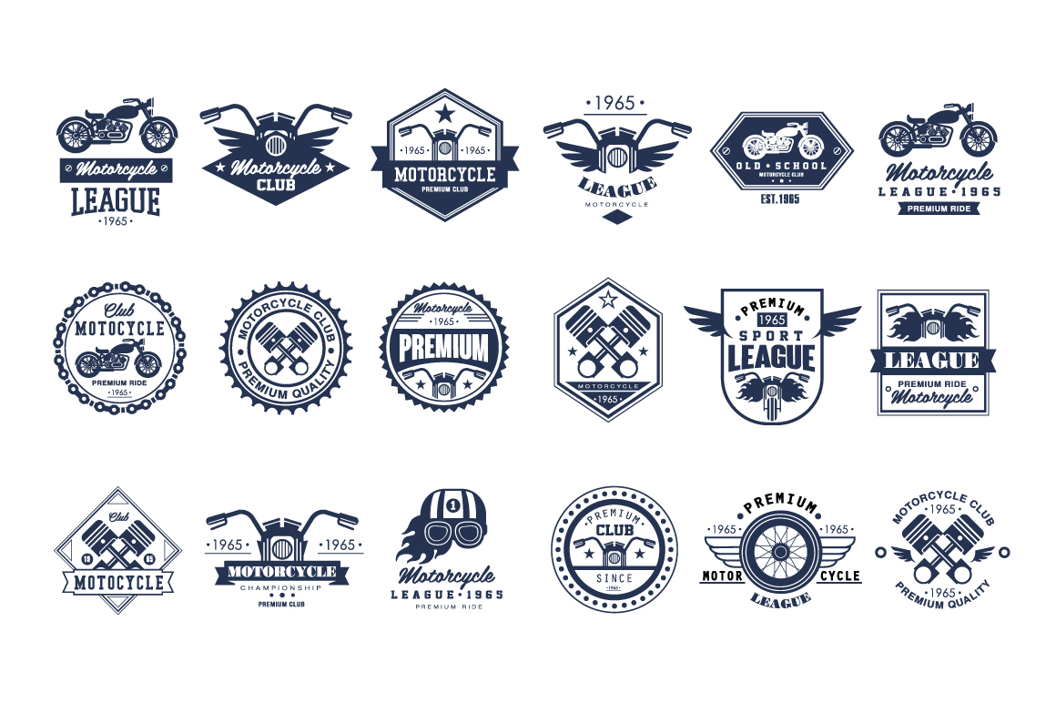 Badges-emblems-Motorcycle-Set