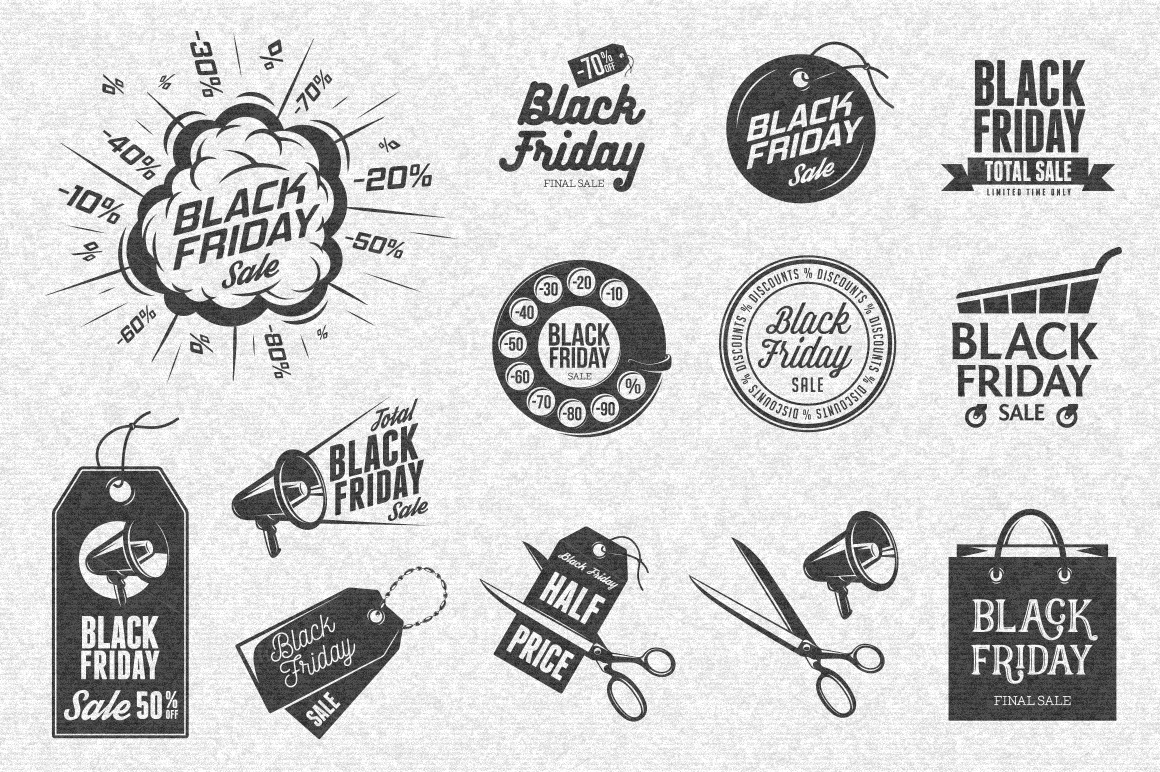 Black-Friday-Labels-Set