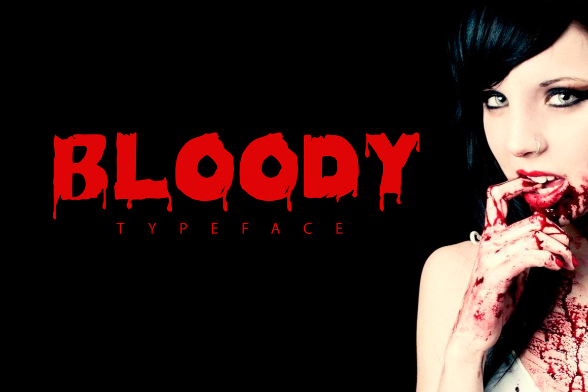 Bloody-Free-Typeface