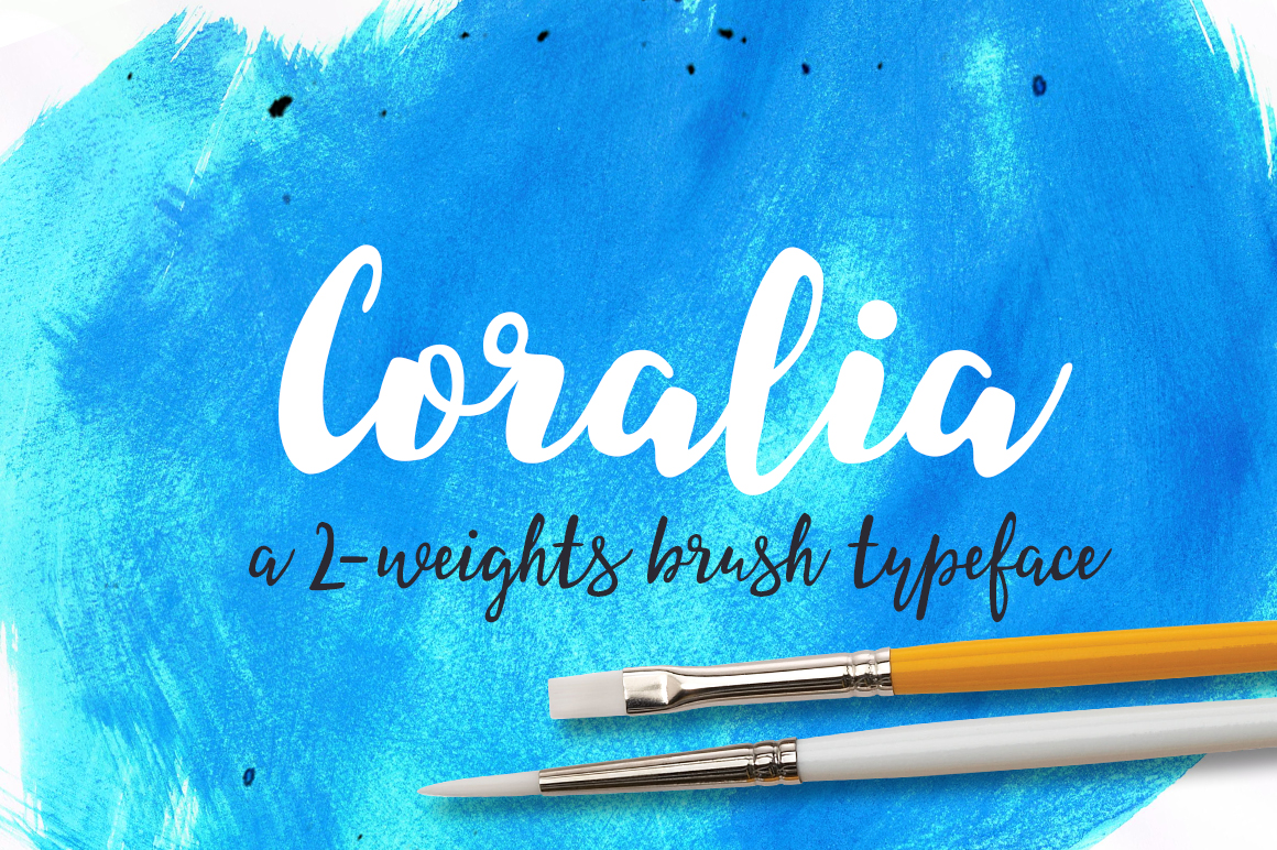 Coralia-a-2-weights-brush-typeface
