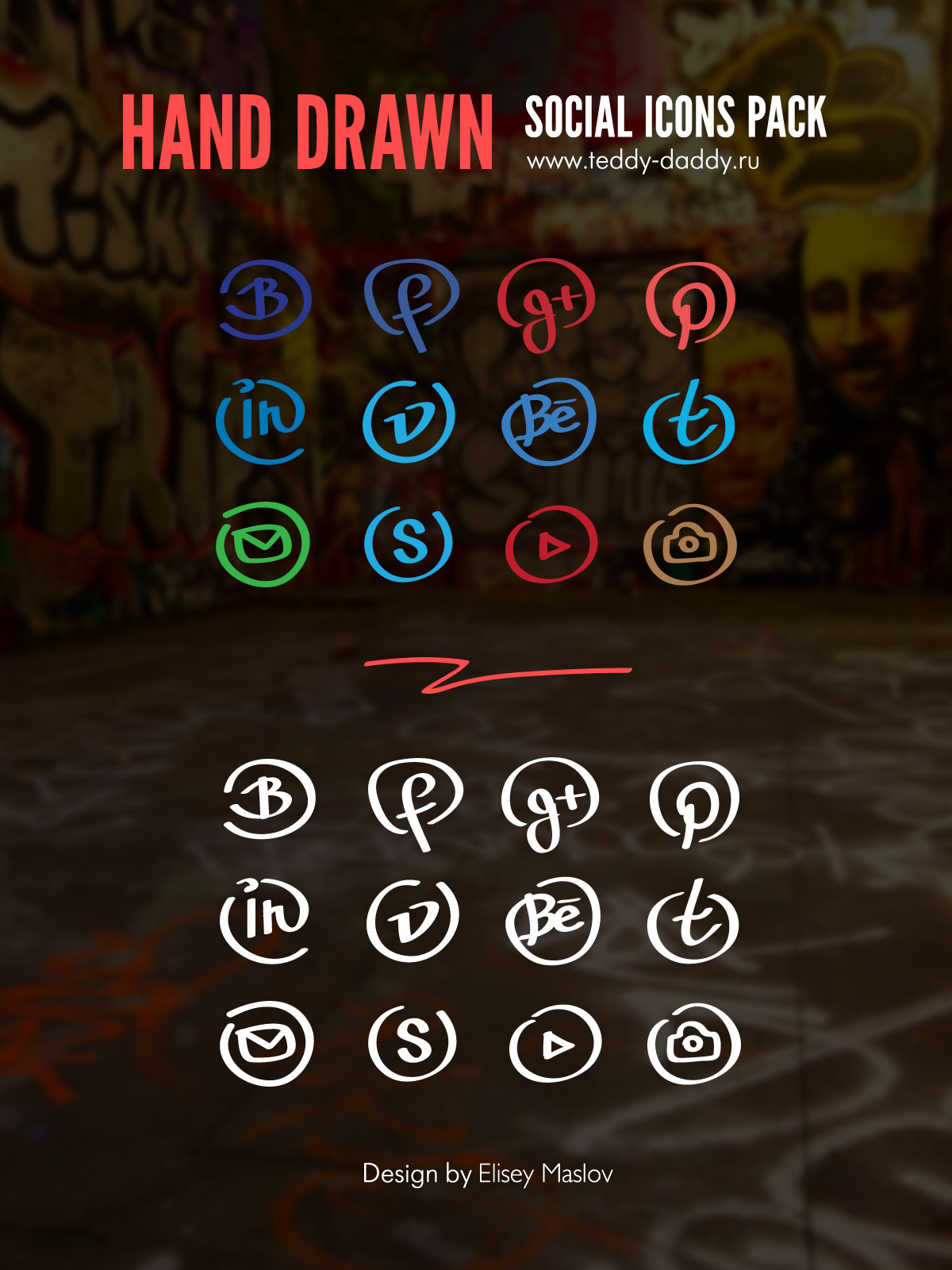 Hand-drawn-social-icons-pack
