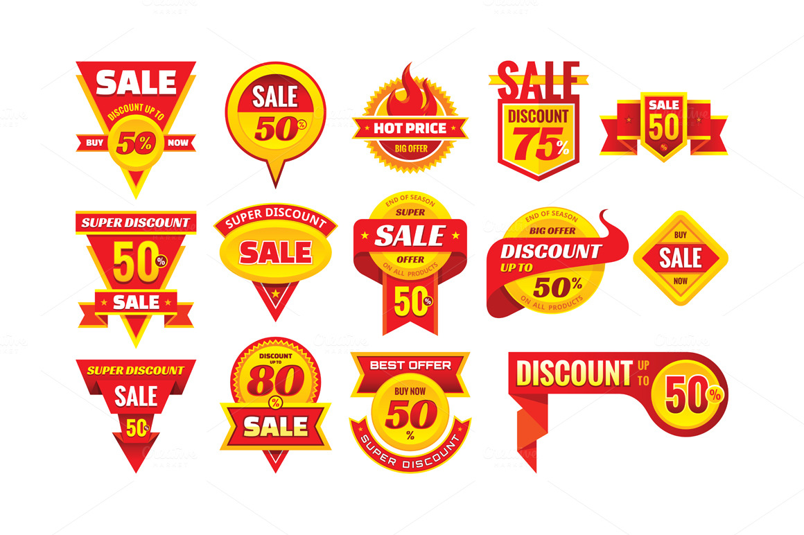 Sale-Discount-Vector-Badges-Set