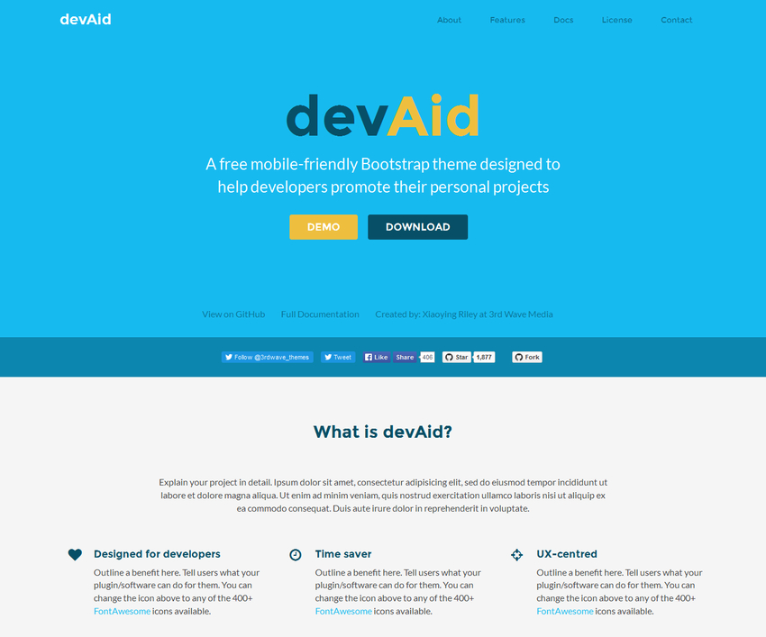 devaid-free-bootstrap-theme-developers