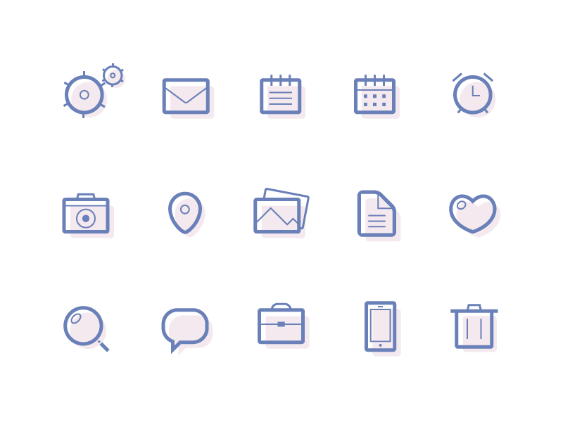 free-lined-icons