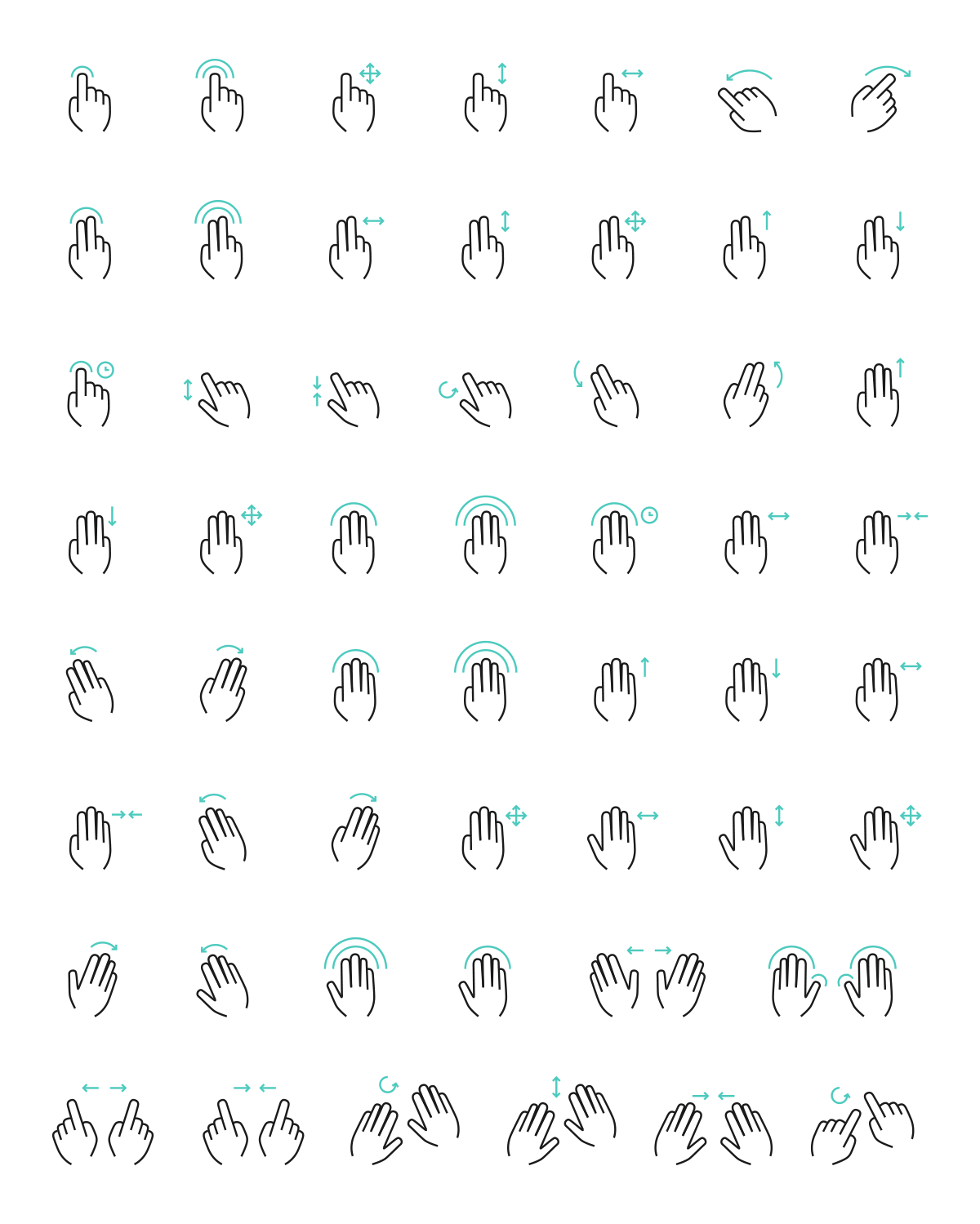 free-vector-gesture-icons