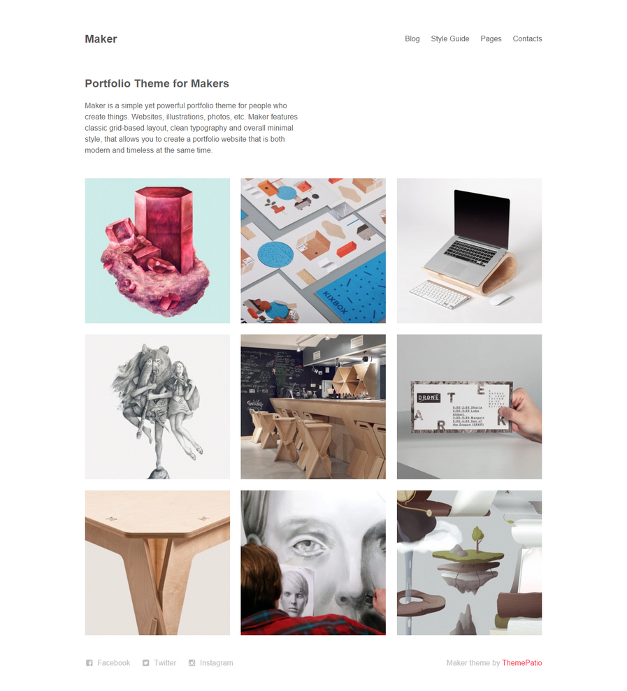 maker-free-portfolio-wordpress-theme
