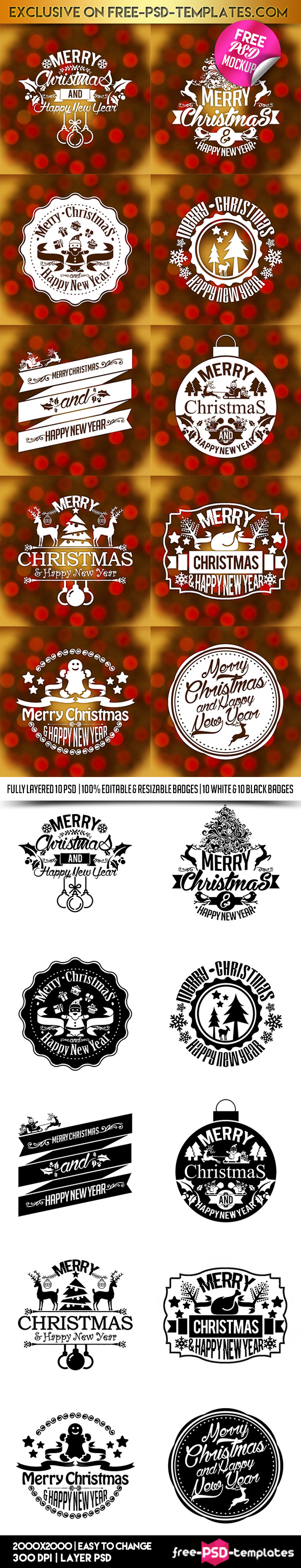 10-Free-Christmas-New-Year-Vintage-Labels-Stickers