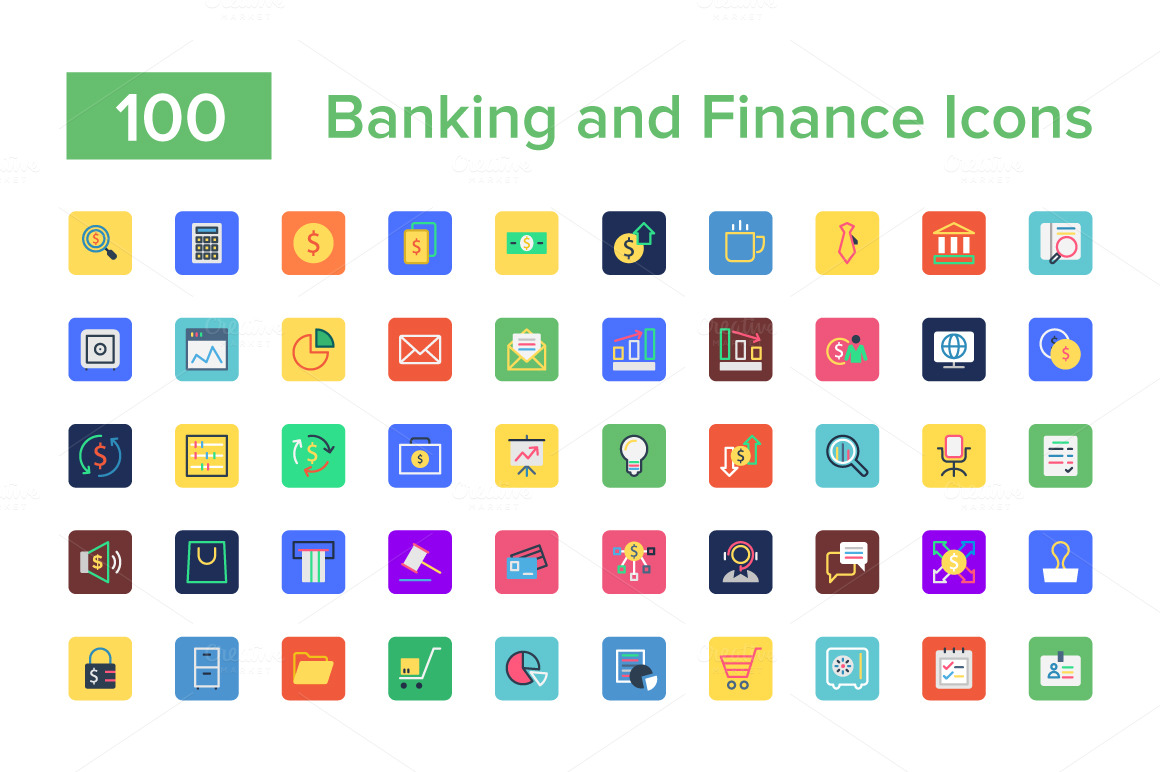 100-Banking-and-Finance-Icons