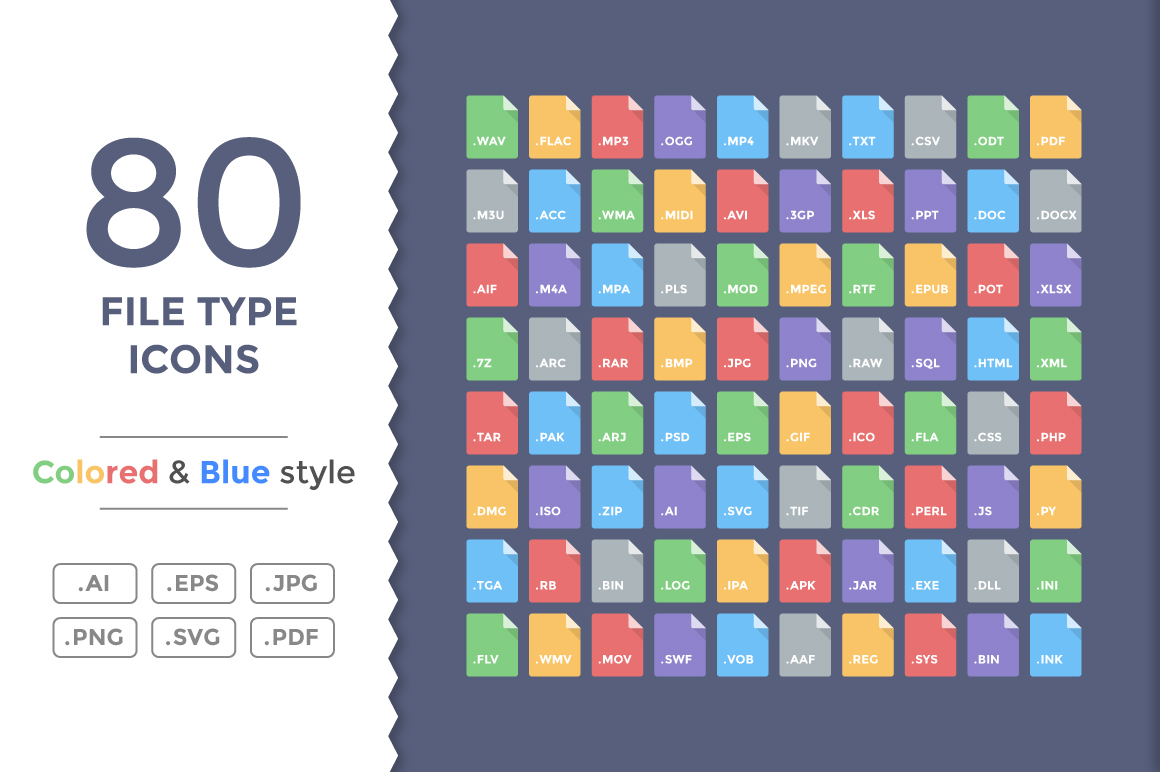 80-Flat-File-Type-Icons