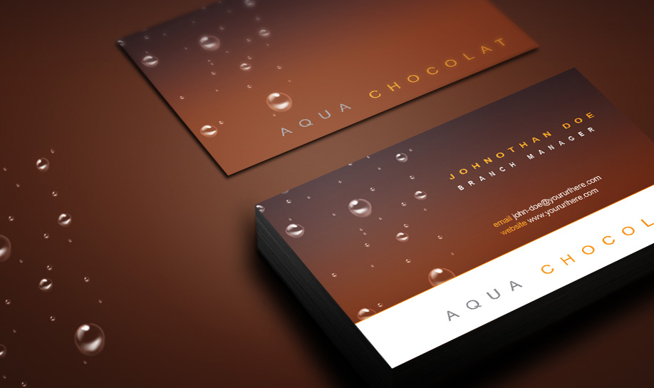 Aqua_Chocolate_Business_Card