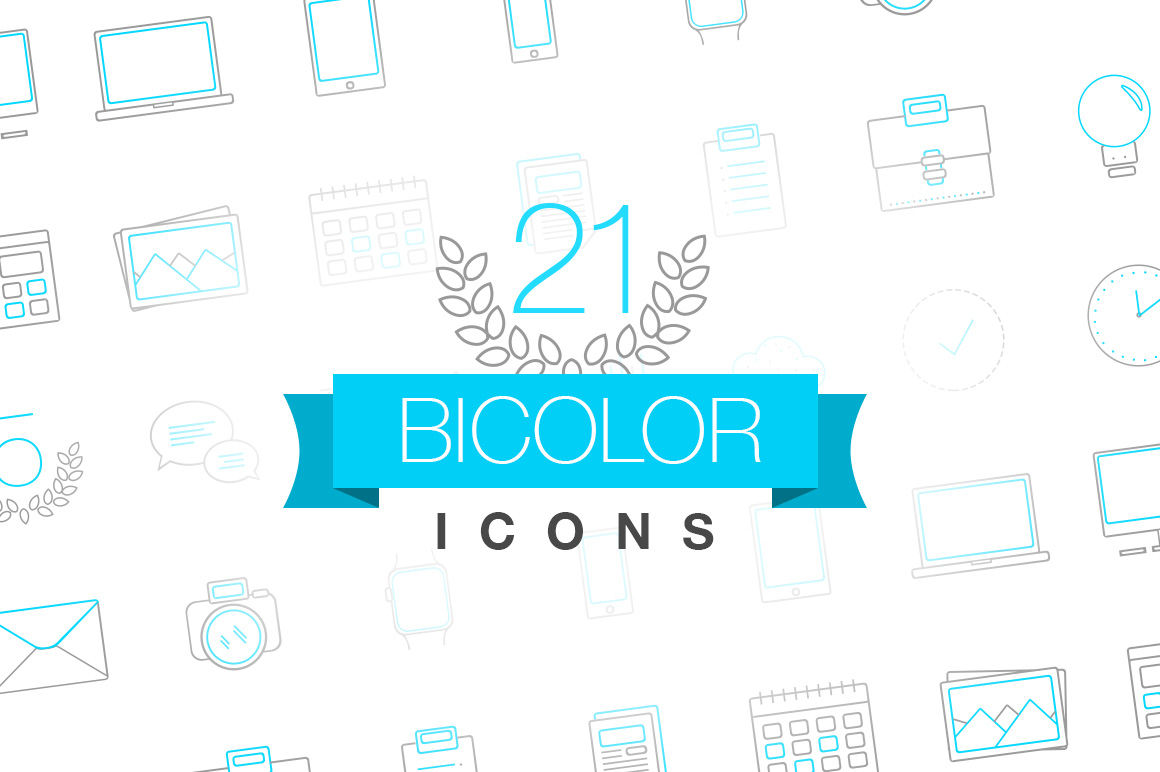 Bicolor-thin-icons