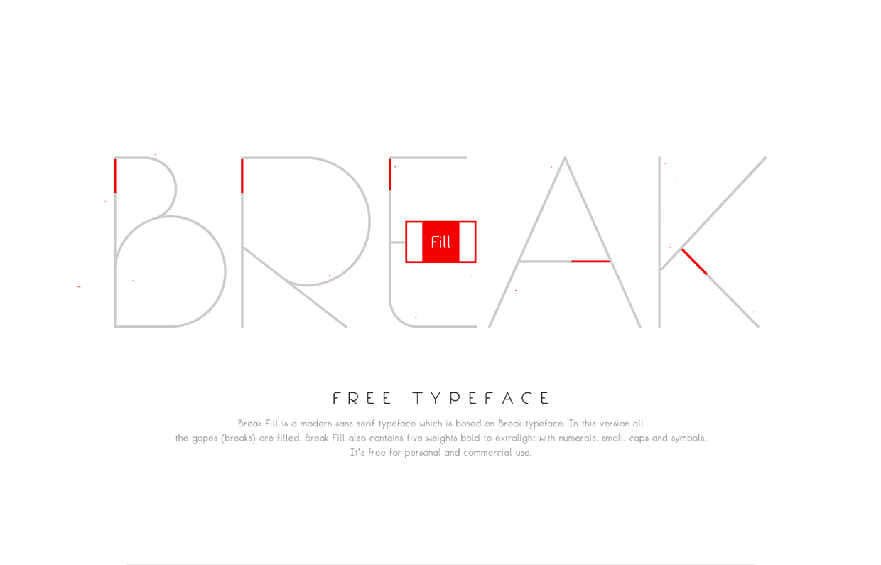 Break-Fill-Free-Typeface