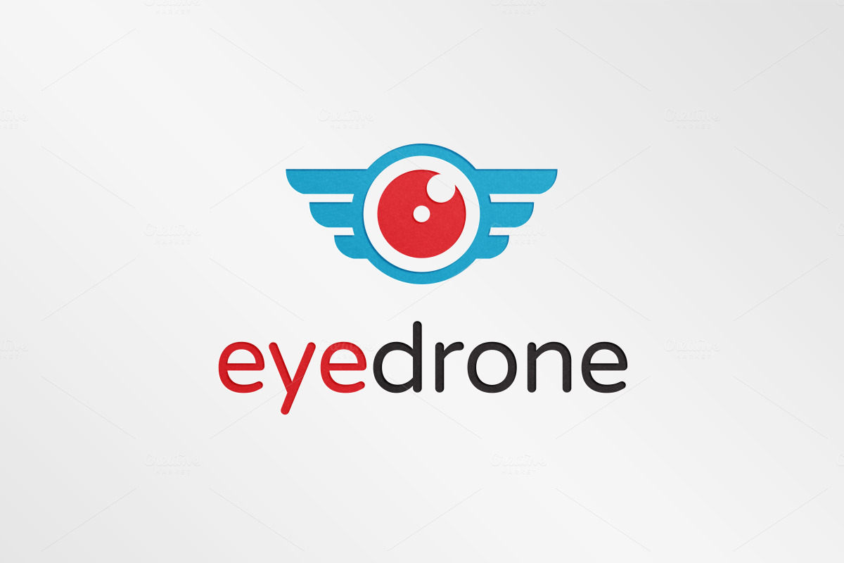 Eye-Drone-Logo-Template