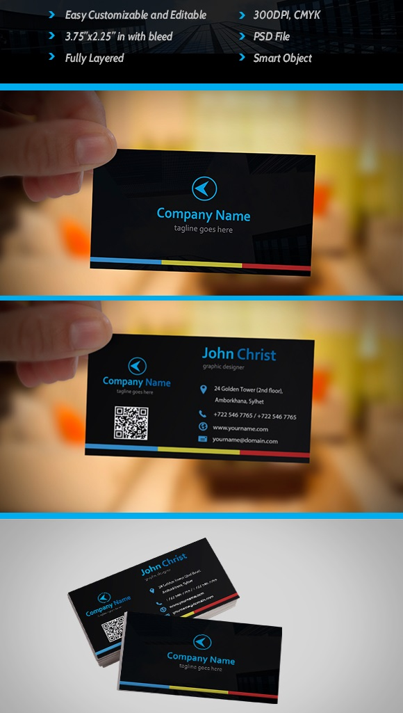 30 best stylish business card templates for Free business card templates psd