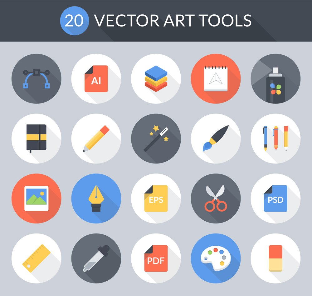 Free-Flat-Vector-Art-Tools-Icons