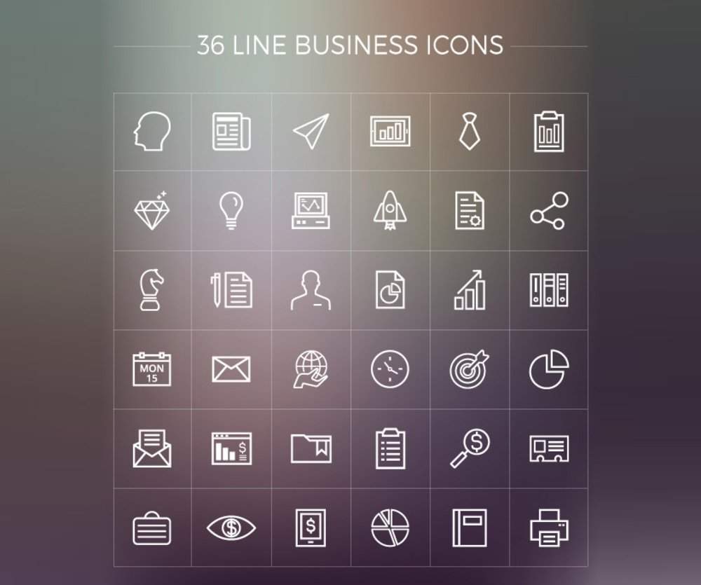 Free-Line-Business-Icons