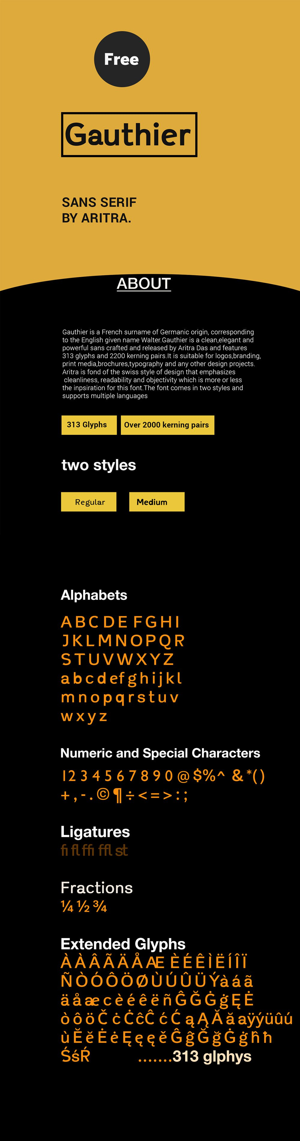 Gauthier-Free-Font