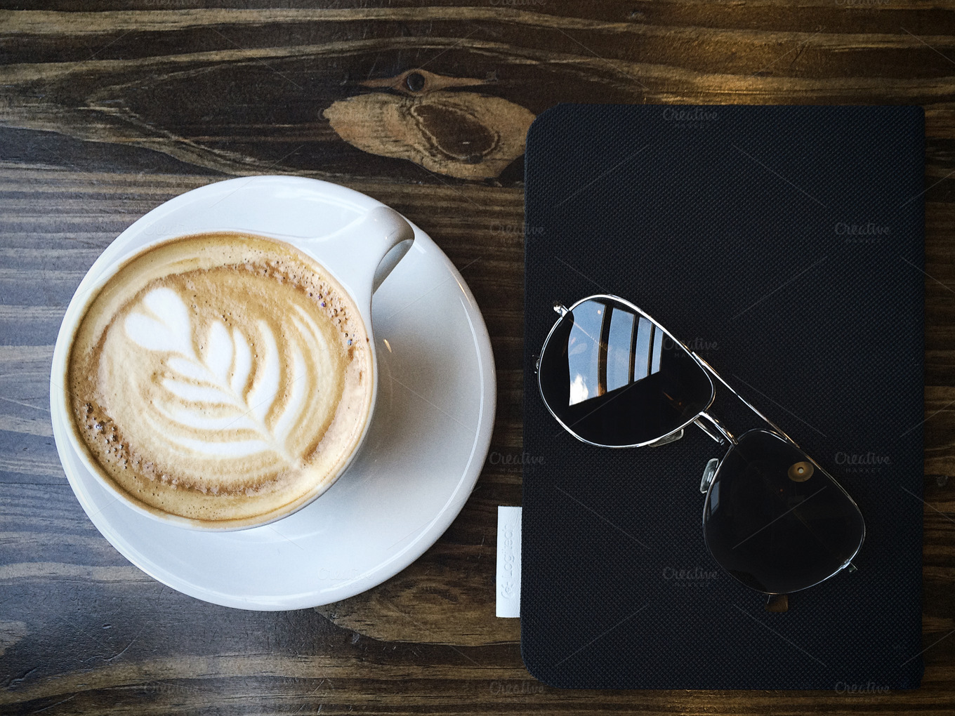 Latte-Sunglasses-and-Tablet