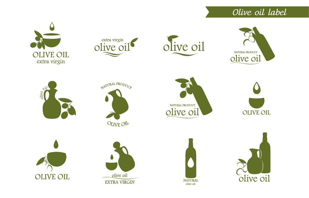 Olive-oil-icons-label-logo-badges