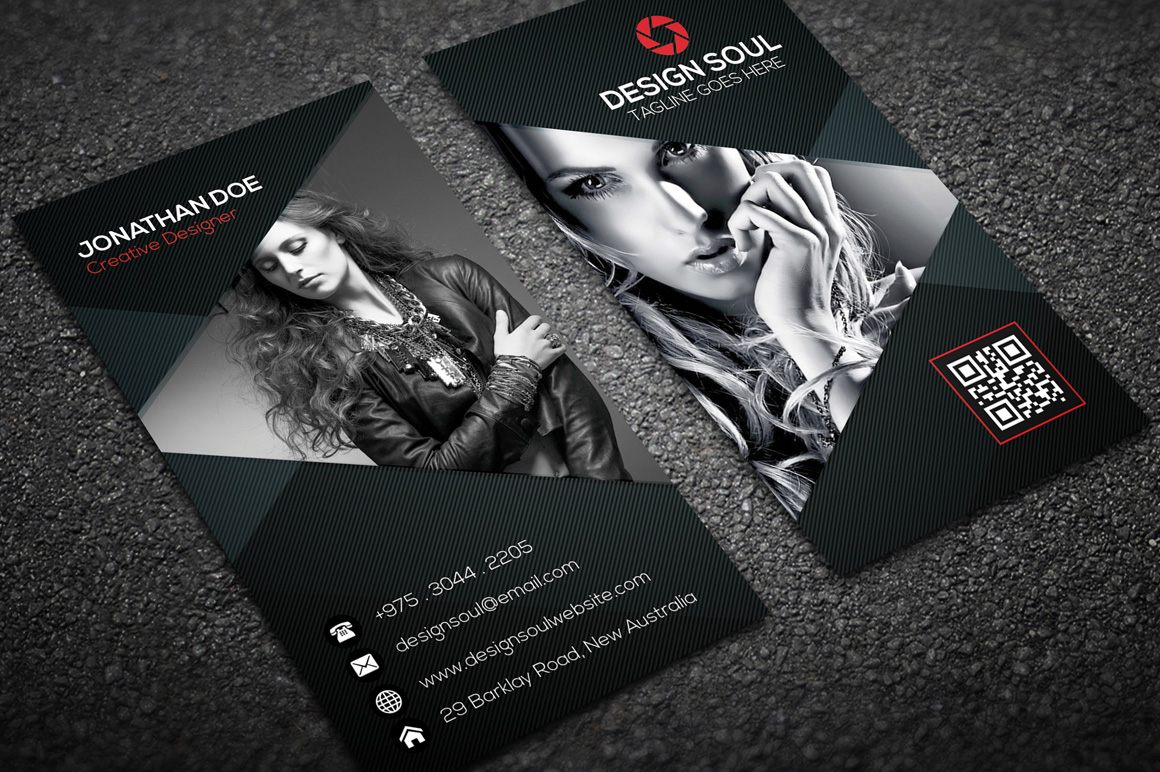 30 best stylish business card templates designazurecom for Best business cards for photographers