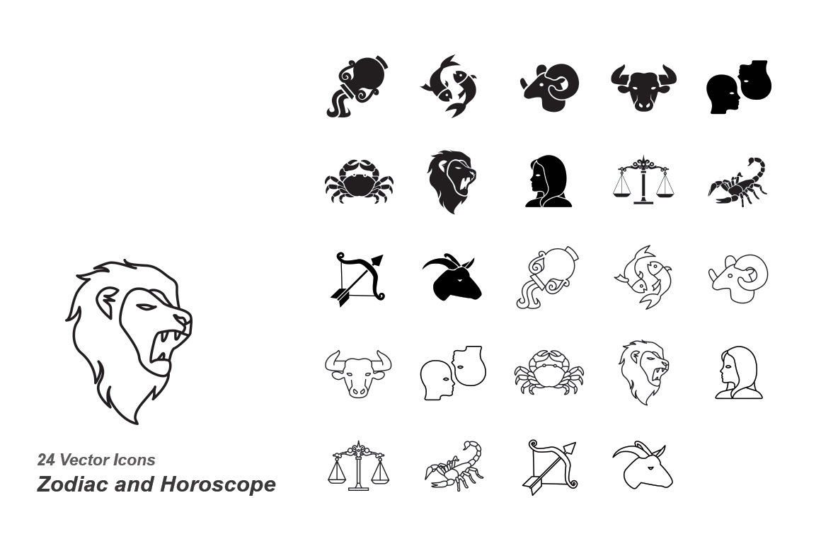 Zodiac-and-Horoscope-vector-icons