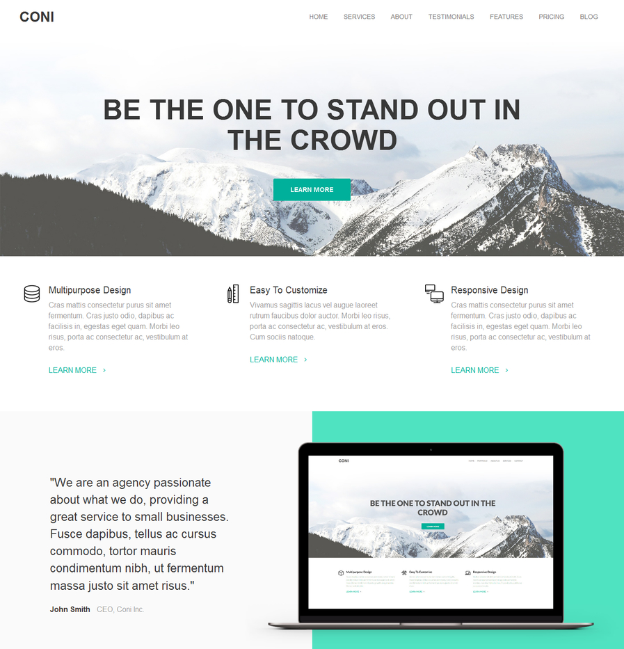 coni-free-corporate-wordpress-theme