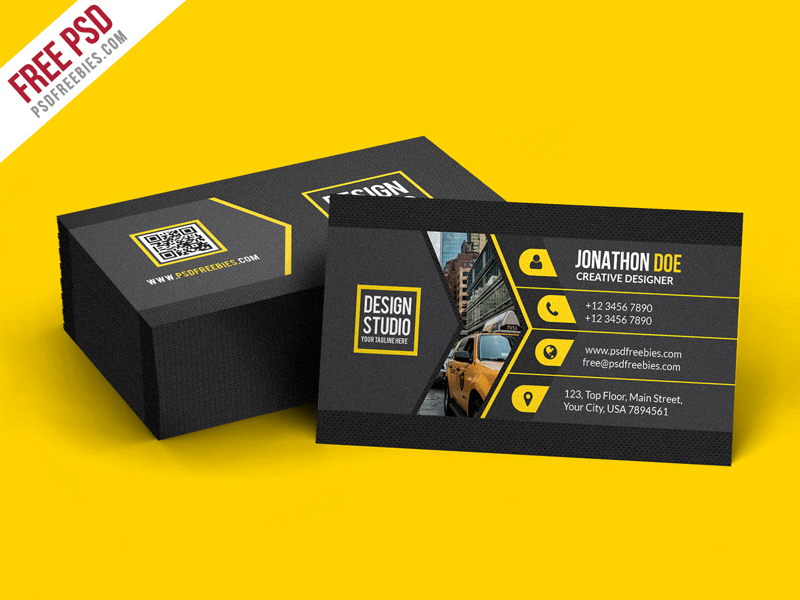 30 best stylish business card templates designazure creative black business card template psd new price free download source cheaphphosting Images